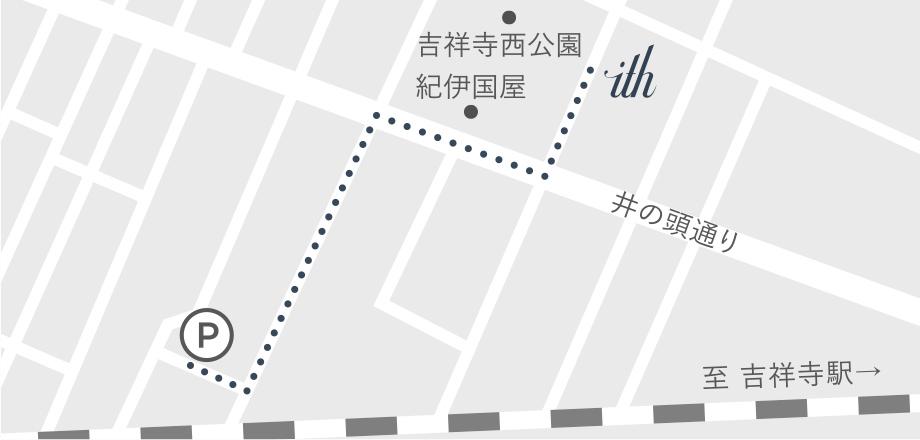 提携駐車場の地図